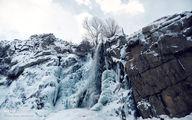 تصاویر: منجمد شدن آبشار گنجنامه همدان