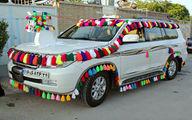 تصاویر: تزئین ماشین عروس به سبک عشایر