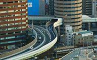 عکس: عبور بزرگراه از میان یک برج