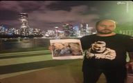 تصویر حاج قاسم روی پیراهن یک جوان در استرالیا