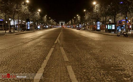 تصاویر: خیابانهای پاریس در روزهای کرونایی