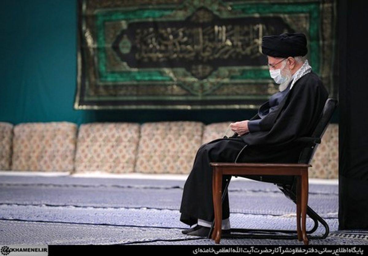 لحظه ورود رهبر انقلاب به حسینیه امام خمینی (ره) +عکس