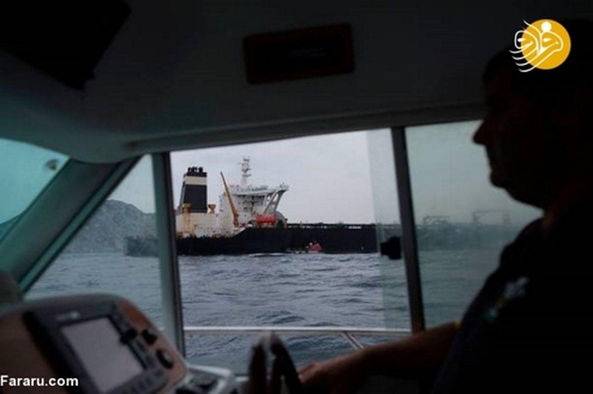 تصاویری از نفتکش توقیف شده ایران در جبل الطارق