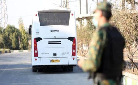 گروگانگیری در یک اتوبوس شهری در قم +عکس