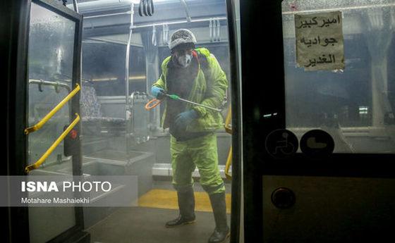 تصاویر: ضدعفونی معابر و اماکن عمومی شهر اراک