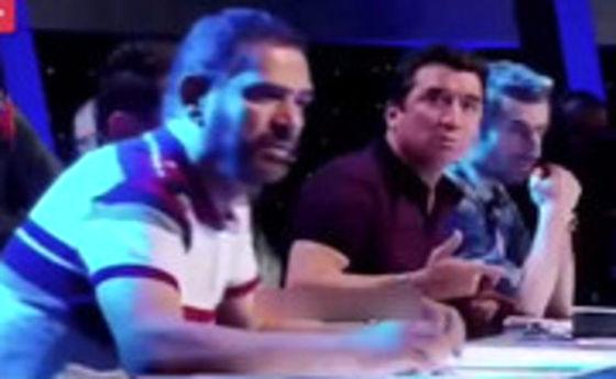درگیری لفظی خداداد عزیزی با فیروز کریمی در تلویزیون +فیلم
