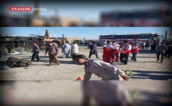 ۵ کشته بر اثر واژگونی اتوبوس در دهشیر یزد