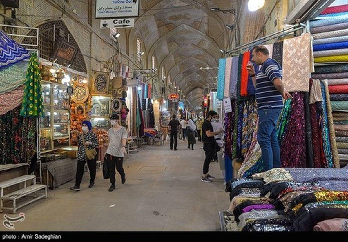 تصاویر: کسادی بازار وکیل شیراز در ایام کرونا