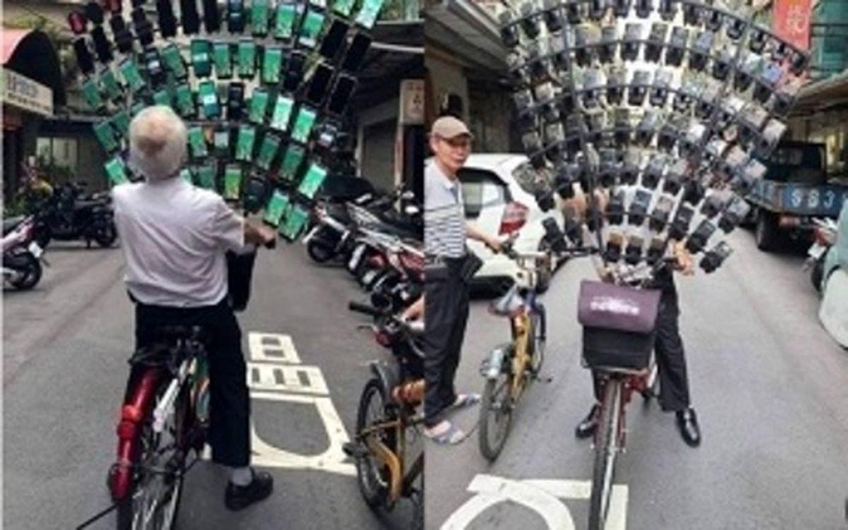 علاقه عجیب پیرمرد ۷۰ ساله به بازی «پوکمون گو» +عکس و فیلم