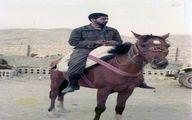 تصویری دیده نشده از شهید سردار سلیمانی سوار بر اسب
