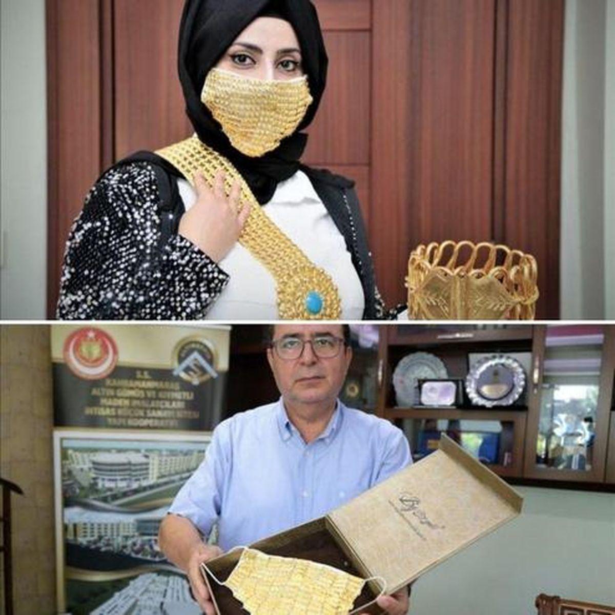 ماسک طلا برای عروس خانمها به بازار آمد! +عکس