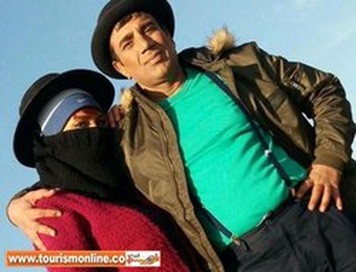 پوشش عجیب همسر دوم نصرالله رادش! +عکس