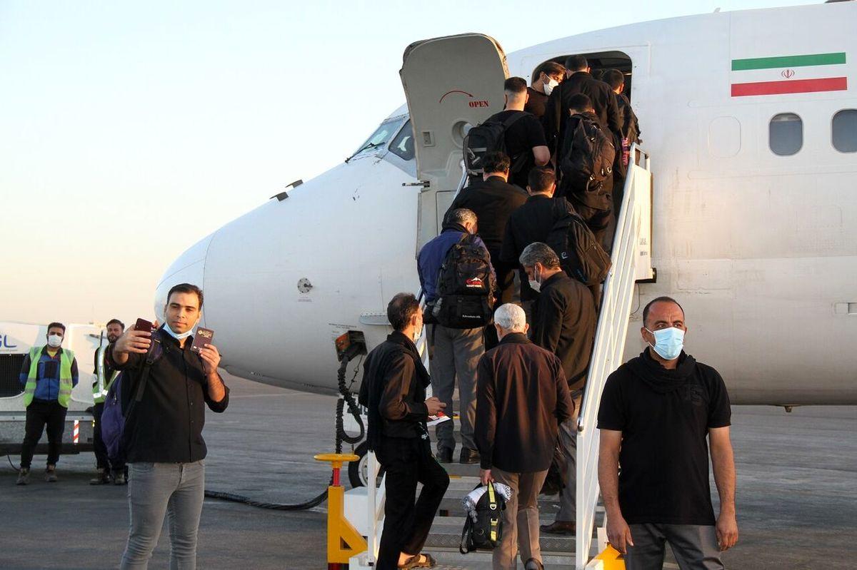 جزئیات بازگشت هوایی زائران اربعین از روز دوشنبه
