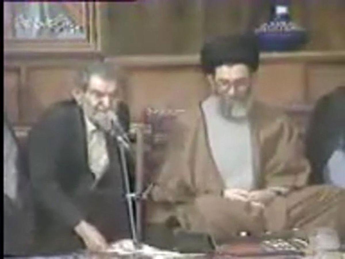 شعرخوانی مرحوم شهریار در حضور رهبرانقلاب در تبریز