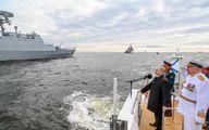 رژه دریایی سالروز تاسیس ناوگان دریایی روسیه با شرکت ایران در حضور پوتین