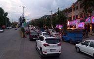 ترافیک سنگین در آزادراه قزوین - کرج- تهران