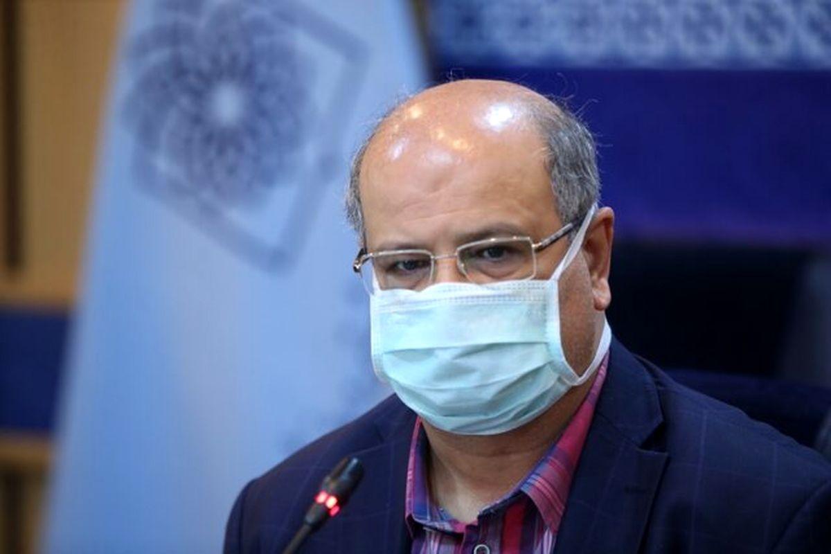 زالی: کل استان تهران برای اولین بار قرمز شد