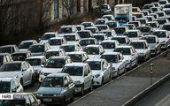 ترافیک سنگین در بلوار هاشمی به سمت بهشت زهرا