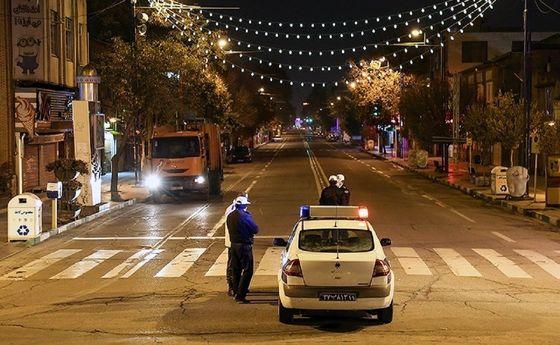 درخواست پلیس برای تغییر ساعت ممنوعیت تردد شبانه