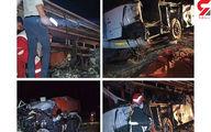 تصادف مرگبار اتوبوس مسافربری با تریلی در یزد/ 4 نفر در دم جانباختند + عکس