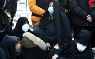 حال بد  مادر علی انصاریان در بهشت زهرا +عکس