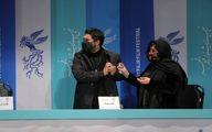 حرکات عجیب حامد بهداد و باران کوثری در نشست خبری +عکس