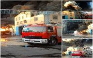 کارخانه تولید الکل در قم دچار آتشسوزی شد +اولین تصاویر