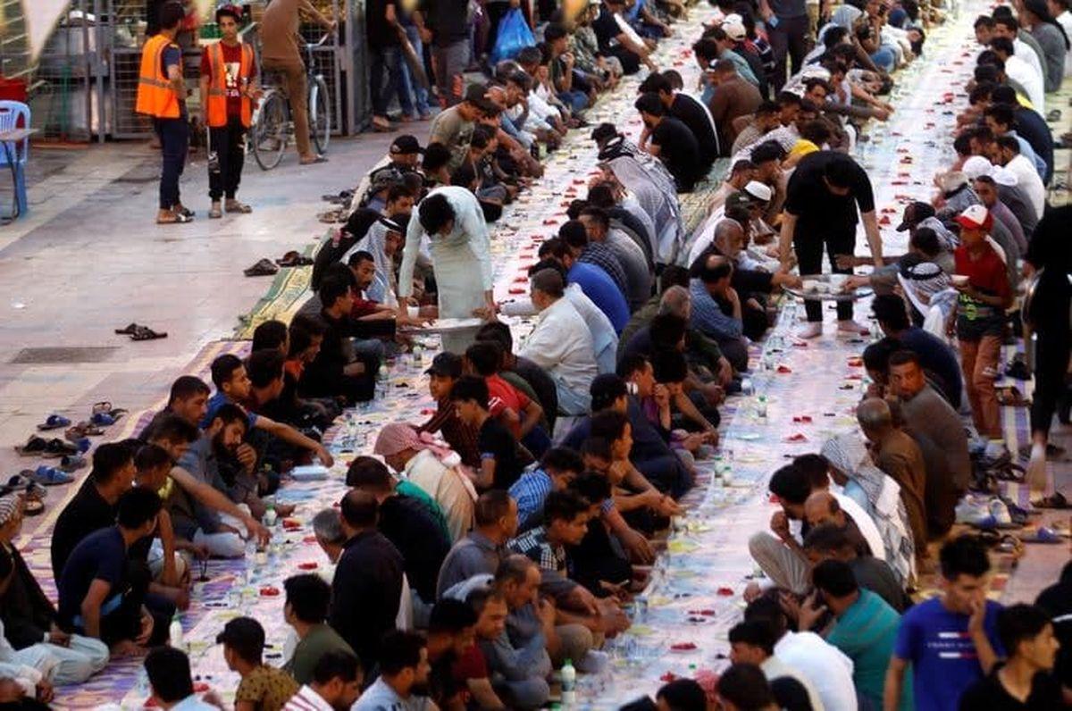 سفرههای افطار در کوچههای شهر نجف عراق +عکس