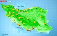 رگبار باران و باد شدید در برخی استانها +نقشه