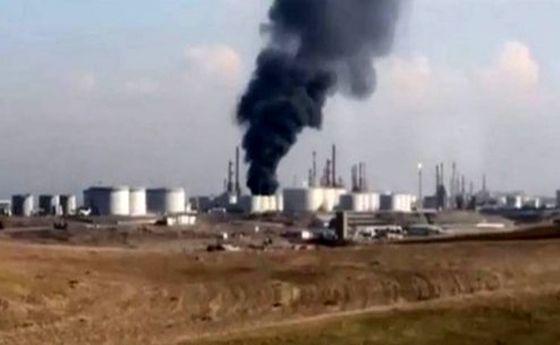 سه کشته در آتشسوزی پالایشگاه نفت اربیل