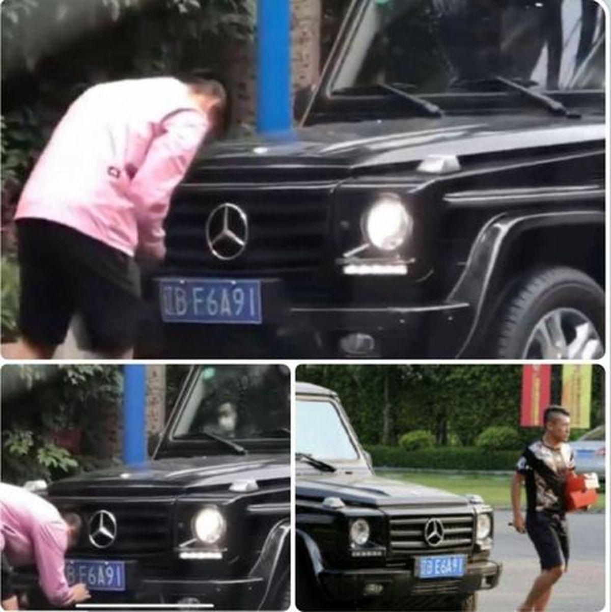 اخراج یک فوتبالیست به دلیل مخدوش کردن پلاک خودرو! +عکس