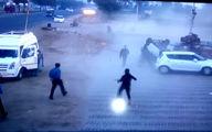 اقدام باورنکردنی یک موتورسوار در بزرگراه +فیلم