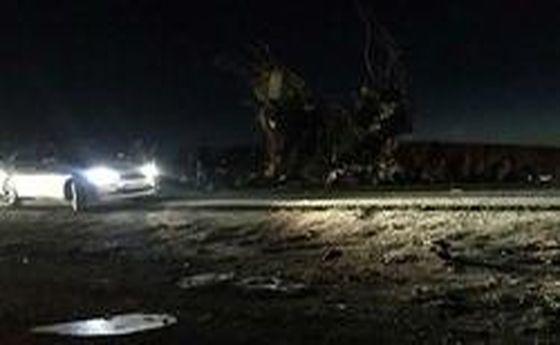 اولین عکس از حمله انتحاری به اتوبوس سپاه