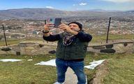 طبیعت گردی بهرام رادان در روز جمعه +عکس